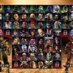 Mortal Kombat Armageddon: Character selection screen
